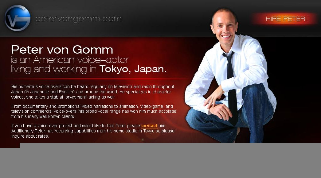 Peter von Gomm website